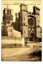 CPA 34 Herault Béziers Cathédrale Saint-Nazaire Plan Saint-Louis