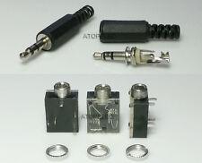 5-100pcs 3.5mm Stereo Headphone Jack Plug / Socket with Nut PCB Panel Mount