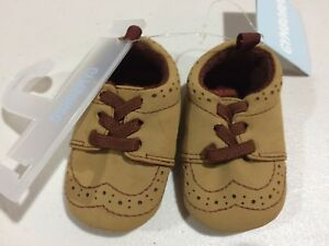 NWT Gymboree Boys Crib shoes Baby Brown Dress shoes woodland tail 01,02,4
