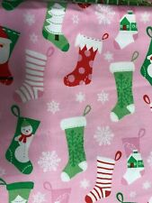 David Textiles Stockings on Pink Background 1 Yard 13 Inches 2310