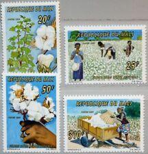 MALI 1996 1601-04 805-08 Cotton Production Baumwolle Baumwollanbau Industry MNH