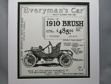 1910 Brush   Auto Pen Ink Hand Drawn  Poster Automotive Museum