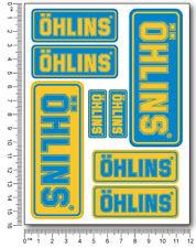 Ohlins fork shock Laminated stickers decals graphics aprilia ducati kawasaki