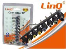 Set 8 Connettori DC per Alimentatore Universale da rete 240V AC Linq DC-W8