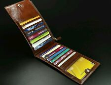 Hot Leather Men Wallet Clutch  Money Clip with 15 cards Bits Zipper