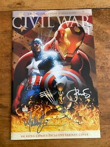 Civil War #1 Aspen Exclusive Signed by Michael Turner Variant  NM 2006 @