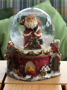Schneekugel Weihnachten Weihnachtsmann Santa Schnee Dekoration