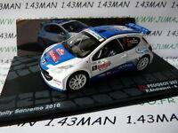 RIT33M voiture 1/43 IXO Altaya Rallye PEUGEOT 207 S2000 San rémo 2010 Andreucci