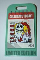 Disney Celebrate Today National Candy Cane Day Jack Skellington Pin Limited 4000