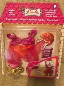 NIP Li'l Luvables Fluffy Factory Teddy Bear Wear Genie Outfit Doll Clothing A24