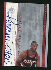 2000 SP Authentic JERMAINE O'NEAL Auto Sign of the Times Blazers