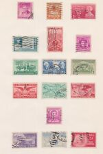 (UT-12) 1948-53 USA mix of 16stamps 3c to 25c (L)