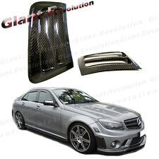 Carbon Fiber Side Vent Hood Cover For 08-11 W204 C63AMG Front Bumper Sedan Coupe