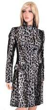 NEW KAREN MILLEN CR069 FAUX PONY SKIN LEOPARD PRINT JACKET MULTI COAT~2 6 34