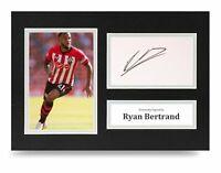 Ryan Bertrand Signed A4 Photo Display Southampton Autograph Memorabilia + COA
