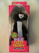 NIB 2002 PEZ FUZZY FRIENDS COLLECTABLE - CAT & DOG SERIES - BOO THE CAT - TUXEDO