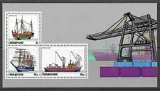 Singapore 1972 Shipping Miniature Sheet very fine unhinged mint