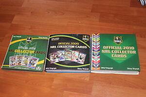 NRL COLLECTOR CARDS AND BINDER -  2008/2009/2010 - COMPLETE SET