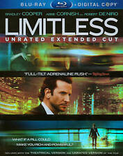 LIMITLESS BLU RAY & DIGITAL COPY MOVIE 2 DISC SET UNRATED EXTENDED CUT FREE SHIP