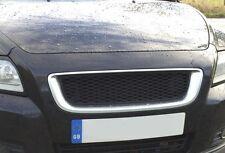 VOLVO S40 V50 2008 - 2012 FACELIFT - MESH Sport Grill Grille BRUSHED ALU & BLACK