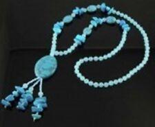 """Echtstein-Halskette """"Bella Donna"""" 70 cm, Farbwahl"""