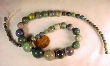 BUTW  Naturally Stunning Strung Andamooka Opal Graduated Beads 4-12 Mm 7811A dl