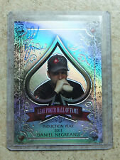 2011 Leaf Razor Metal Poker Prismatic HOF Poker Hall of Fame DANIEL NEGREANU /10