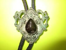 Setting and Amethyst Stone Very Good Vintage Very Old Bolo Necklace with Ornate