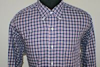 Ralph Lauren Mens Long Sleeve L/S Button Down Shirt Size L Large Plaid