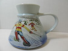 Otagiri Skiers on a Mountain Tapered No Spilll Coffee Cup