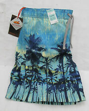 MEN`S MARKS & SPENCER AQUA MIX QUICK DRY PALM TREE SWIM SHORTS WAIST XL