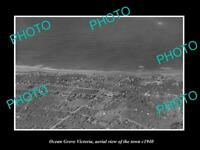 OLD LARGE HISTORIC PHOTO OCEAN GROVE VICTORIA AERIAL VIEW OF THE TOWN c1940 1