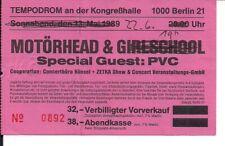 MOTÖRHEAD & PVC Used Ticket Berlin 22.06.1989