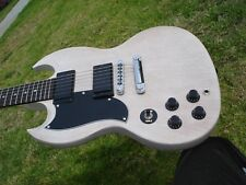 2013 Gibson SG SGJ Lefty Left Handed TV White w/ COA --  Used but Near MINT