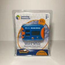 Learning Resources Word Whiz Electronic Flash Card Home School Language Skill