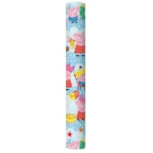 BUY 2 GET 1 FREE 2m PEPPA PIG WRAP ROLL/ WRAPPING PAPER CHILDREN`S WRAPPING