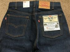 RARE FLAWED MISTAKE LEVI 1966 505 MADE IN USA RIGID JEANS LVC 501 1967