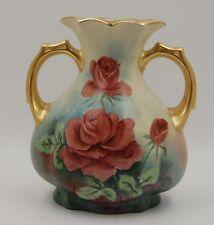 Limoges Antique  France Hand Painted Porcelain Vase  ~Gorgeous~Roses