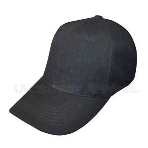 Black Adjustable Baseball Cap