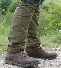 Genuine army gaiters retro 1950s long spats cotton breathable olive green NEW