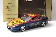 """1:18 Bburago Ferrari 550 Maranello """"Woody"""" Aérographe New chez Premium-modelcars"""