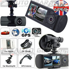 Car Van Dashboard Windscreen 2 Way Dual Lens Camera HD Dash Cam Journey Recorder