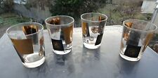 Set of 4 Cera Mid Century Modern Coin 12 Oz Glasses