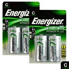 4x Energizer Rechargeable C Size batteries Accu Recharge Power Plus NiMH 2500mAh