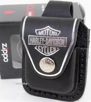 Zippo Harley-Davidson Black Lighter Pouch/Case/Holder Belt Loop Sheath USA Made