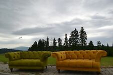 Gold and Green Chesterfield Sofa Set -2x two seater , more colours available!