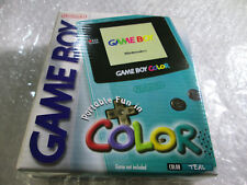 Teal Game Boy Color System - Nintendo Gameboy. Complete in box CIB