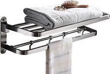 Elloallo Stainless Steel Towel Racks for Bathroom Shelf Double Towel Bar Holder