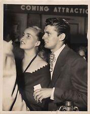KEEFE BRASSELLE & NORMA JEAN ALDRICH (Wife) - Original Vintage AGENCY Photo 1952