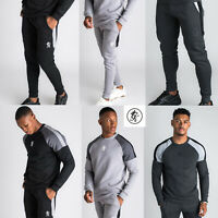 Gym King Mens Core Plus Crew Neck Designer Sweatshirt Jumper Jogger Bottoms NEW